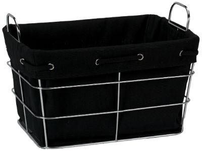 33082 BLK Aspen Large Storage Basket Black