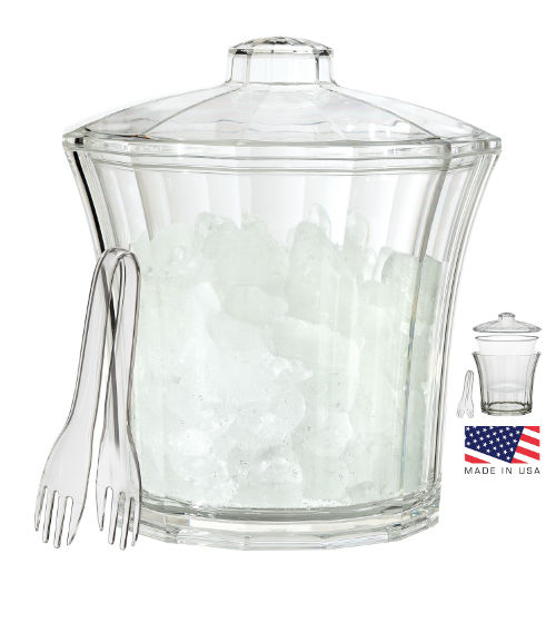 CH502-CLR Fluted Ice Bucket