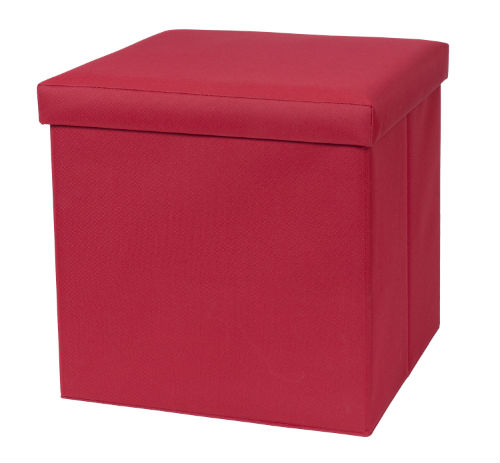 32801-Red Fold N Store Ottoman Red