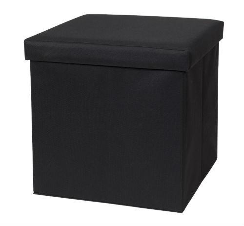 32801-BLK Fold N Store Ottoman Black
