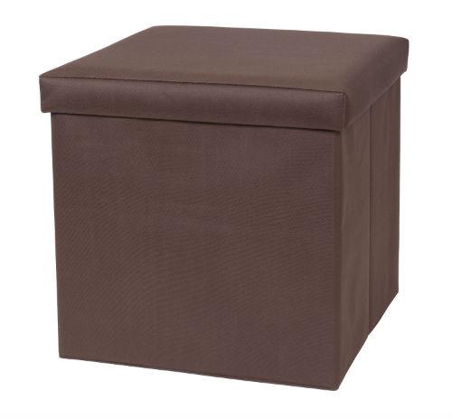 32801-BRN Fold N Store Ottoman Brown