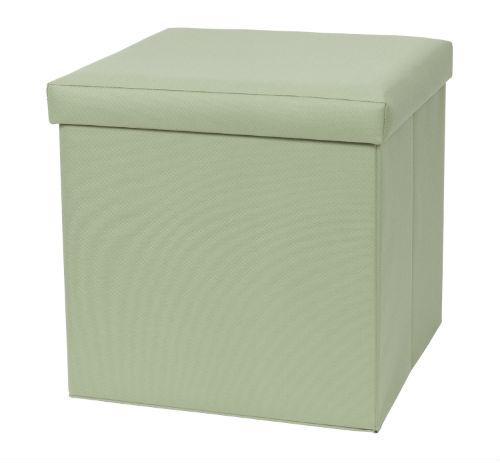 32801-GRN Fold N Store Ottoman Green
