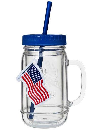 MAS01BL Mason Jar Mug Blue