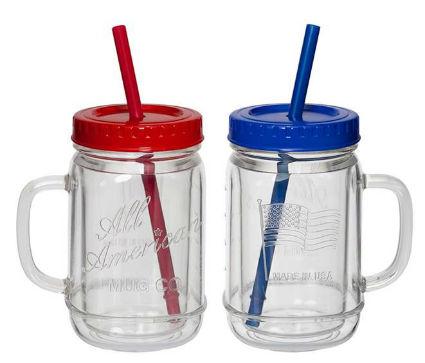 MAS02ASST Mason Jar Mug Set of 2