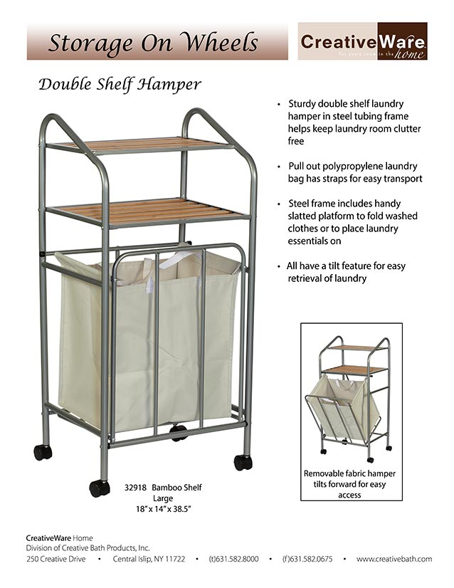 Double Shelf Hamper