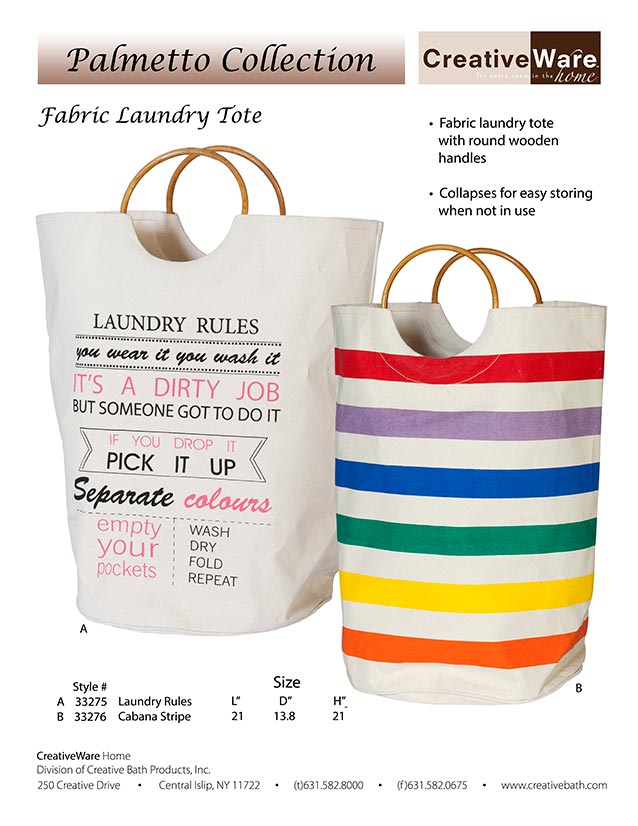 Fabric Laundry Tote