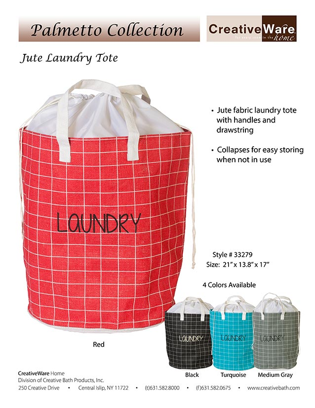 Jute Laundry Tote