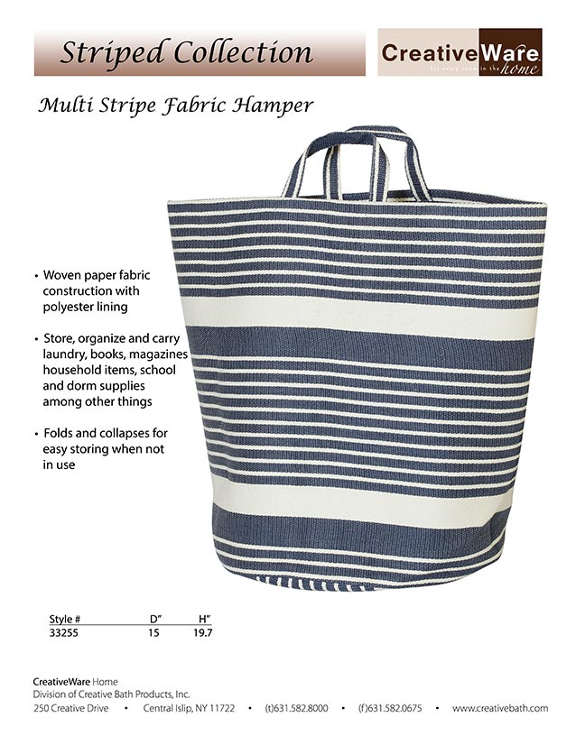 Multi Striped Hamper