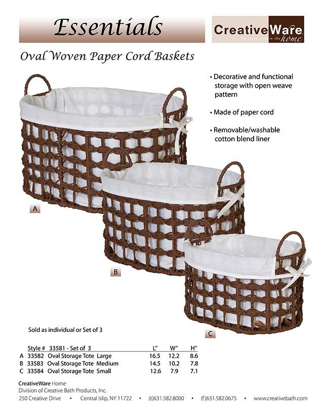 Oval Woven Paper Cord