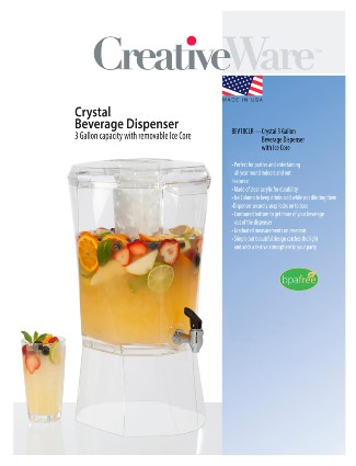 BEV18CLR w/Ice Column 3 Gallon