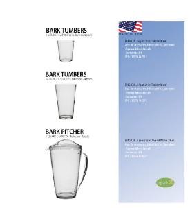 Bark Tumbler & Pitcher Set